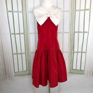 Huey Waltzer for Darcy Evening Midi Halter Dress